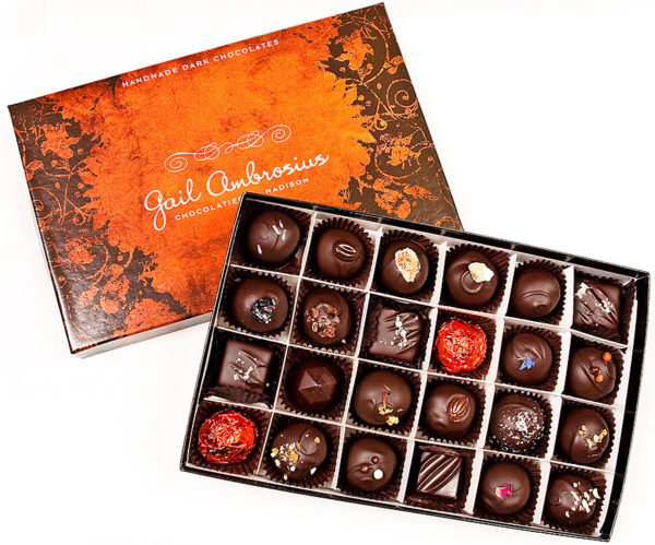 Chocolatier's Choice of gourmet chocolate truffles