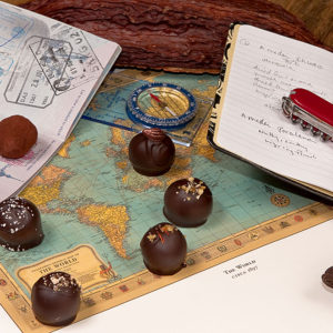 Adventurous Collection of gourmet chocolate truffles