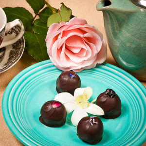 Tea-Inspired Collection of gourmet chocolate truffles