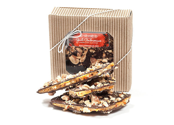 dark chocolate with peppermint or almond toffee